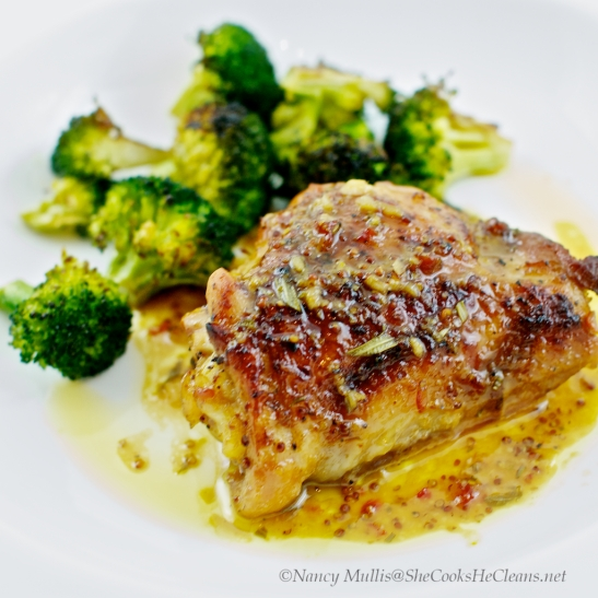 Chicken with Mustard Orange sauce (2)