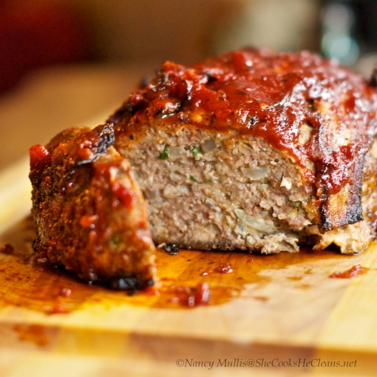 Meatloaf with Bacon, BBQ sauce