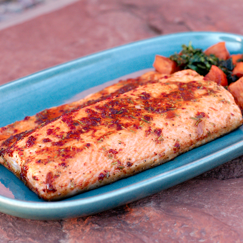 Salmon with Chipotle-Lime Glaze | she cooks...he cleans