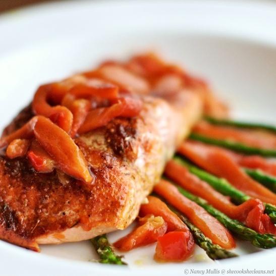 Salmon w:Dry Rub