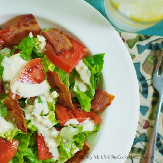 BLT Salad  / She Cooks, He Cleans