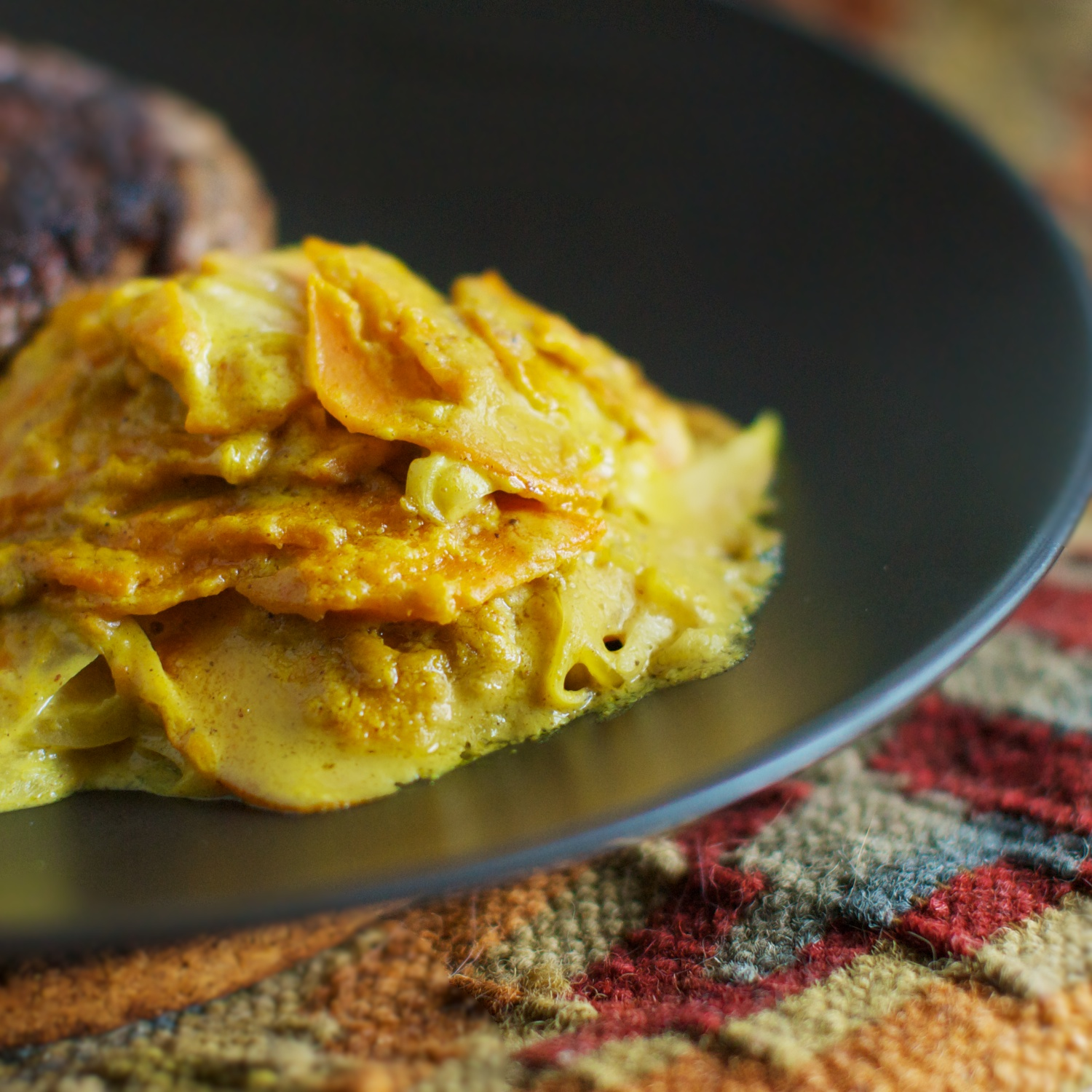 sweet potato gratin with caramelized onion s potato onion upside sweet ...