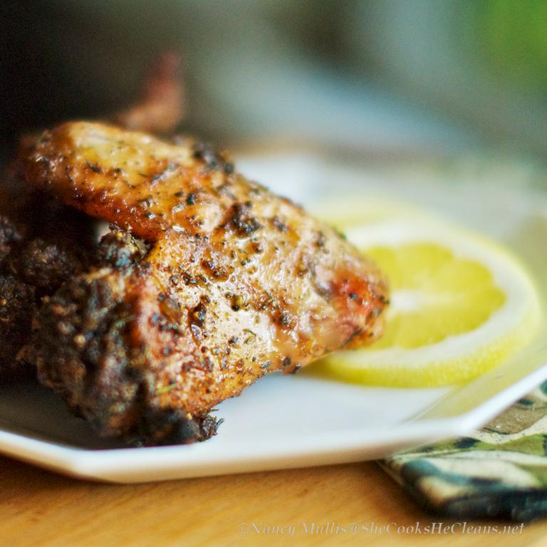 Grilled Lemon-Pepper Chicken Wings