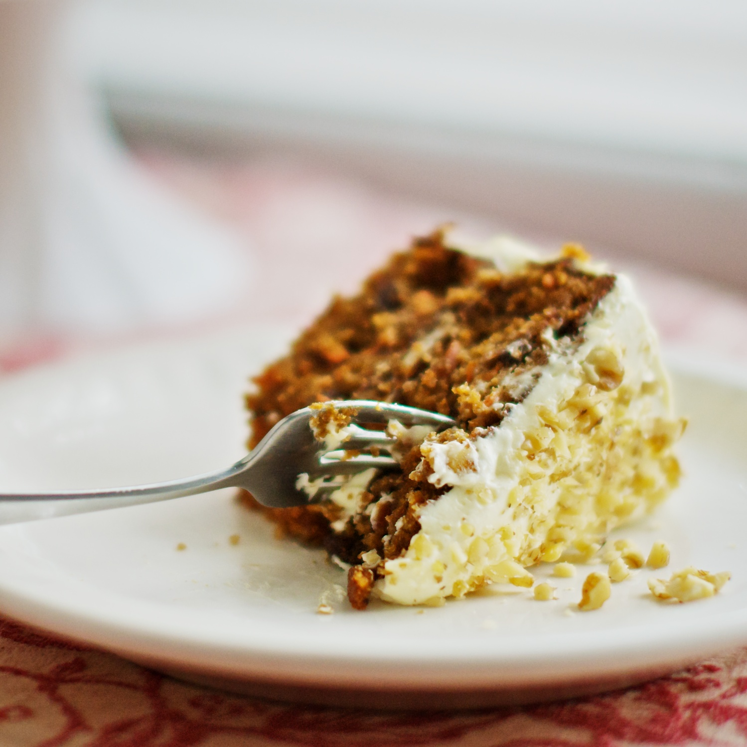 Carrot Cake with Maple Cream Cheese Frosting | she cooks...he cleans