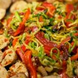 sausage zucchini noodles