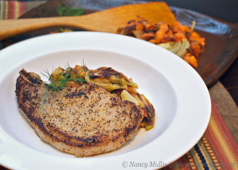 pan roasted pork chops pork chops and applesauce five spice pork chops ...