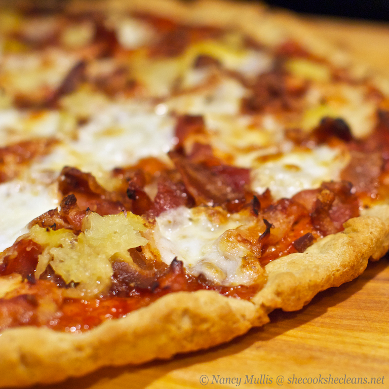 Dough belly bbw bacon pineapple pizza