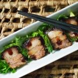 Pork belly balsamic salad wide