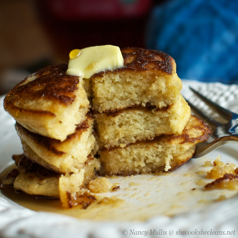 Fluffy Coconut Flour Pancakes Gluten Free And Grain Free She Cooks He Cleans
