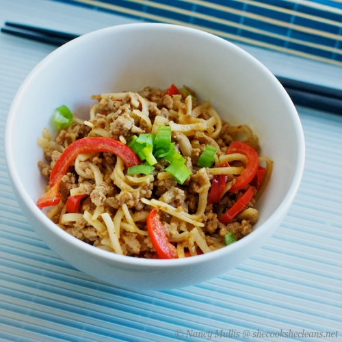 Ground pork Thai noodles 2