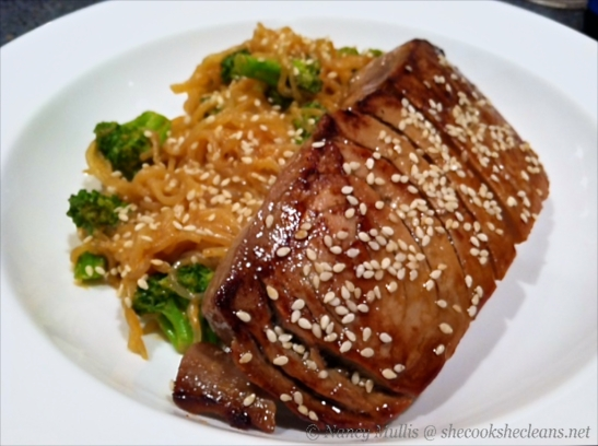 Miracle noodles and Seared Tuna
