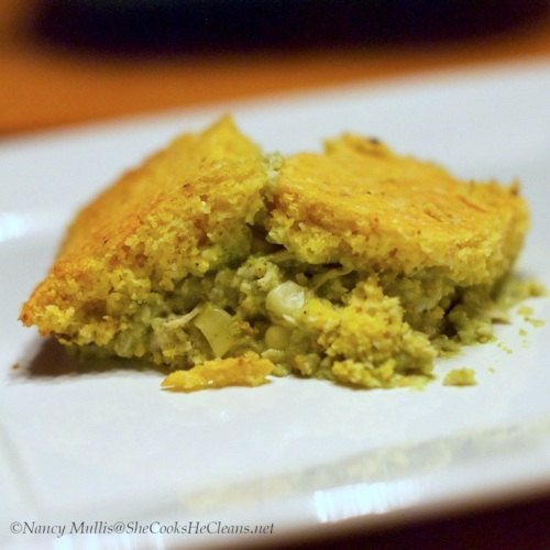 Chicken Tamale Casserole with Roasted Tomatillos