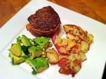 steak avocado and potatoes