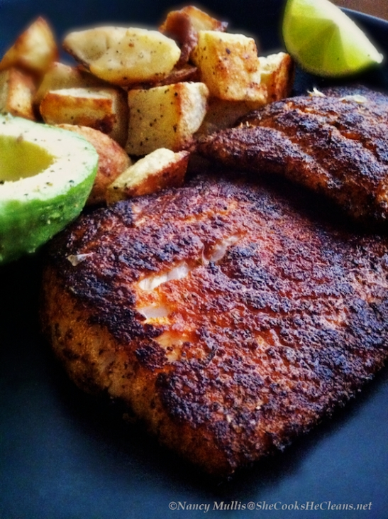 Pan seared blackened flounder she cooks he cleans for Pan seared fish recipes