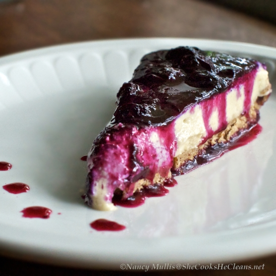 """Cashew """"Cheesecake"""" - dairy free and gluten free.  From She Cooks, He Cleans"""