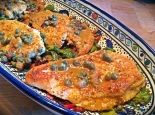 Chicken Piccata with Swiss Chard / shecookshecleans.net