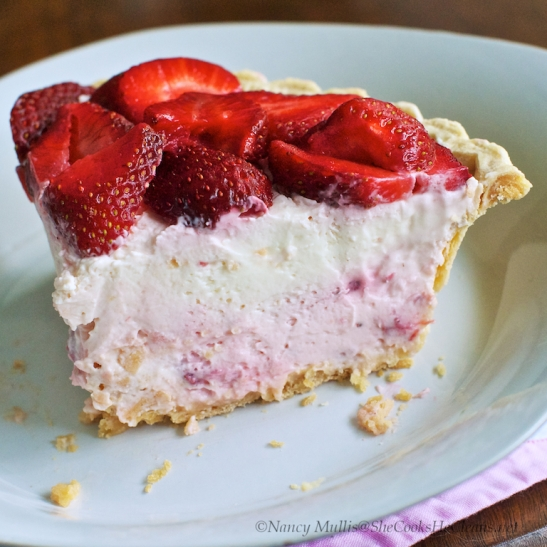 Strawberry Pink and White Pie 1