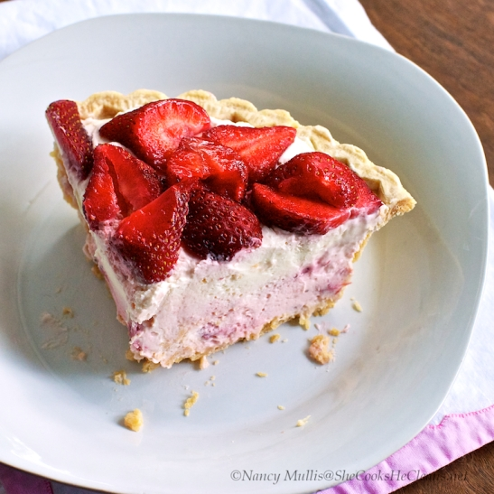 Strawberry Pink and White Pie 2