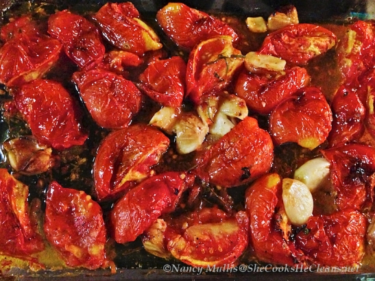 Oven-roasted Tomatoes and Garlic