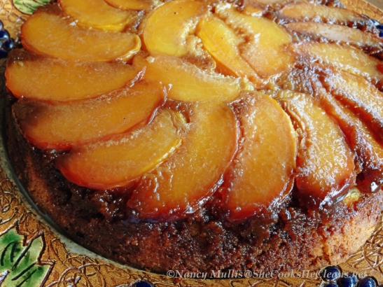 Peach Upside Down Cake (GF)