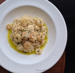Shrimp Scampi over Risotto