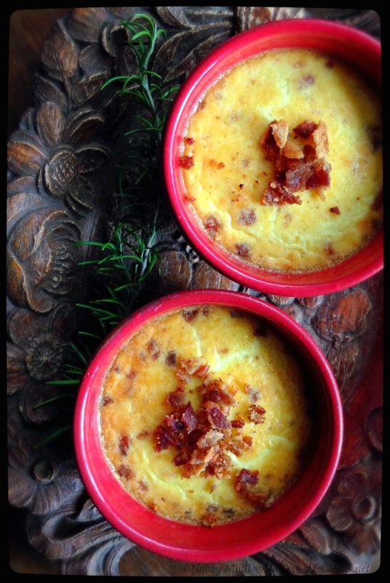 Savory Custard with Bacon and Cheese