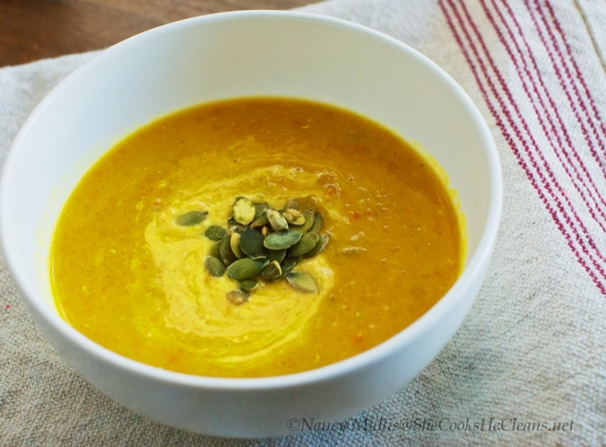 Curried Lentil Soup  from SheCooksHeCleans.net